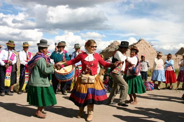 Syusy in Perù, durante uno dei viaggi di Turisti per Caso