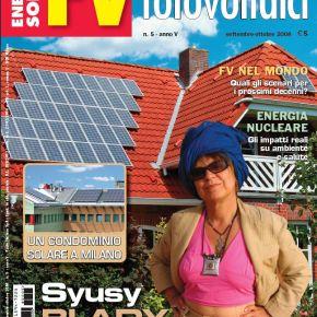 Syusy madrina dell'energia solare per la rivista FotovoltaiciFV