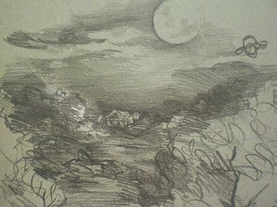 Luna Piena all'Orto dei Giusti - Disegno di Sofia Minkova
