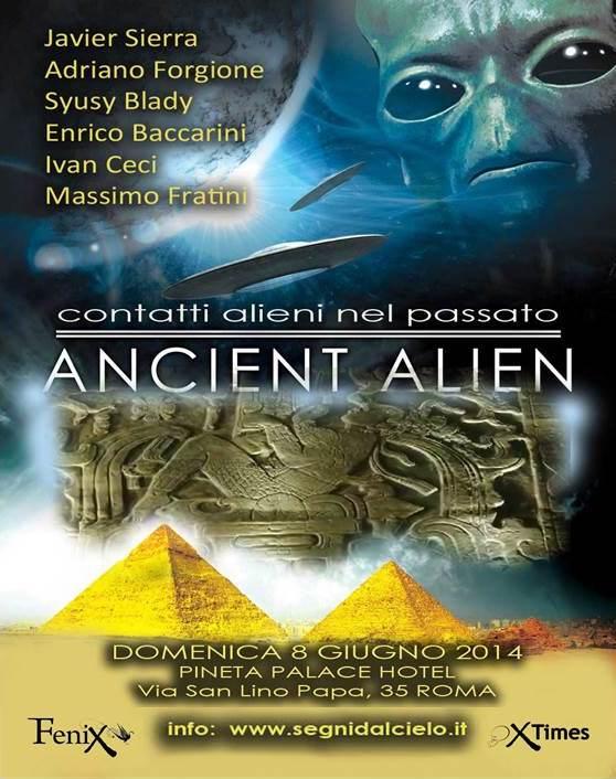 La locandina del convegno Ancient Alien