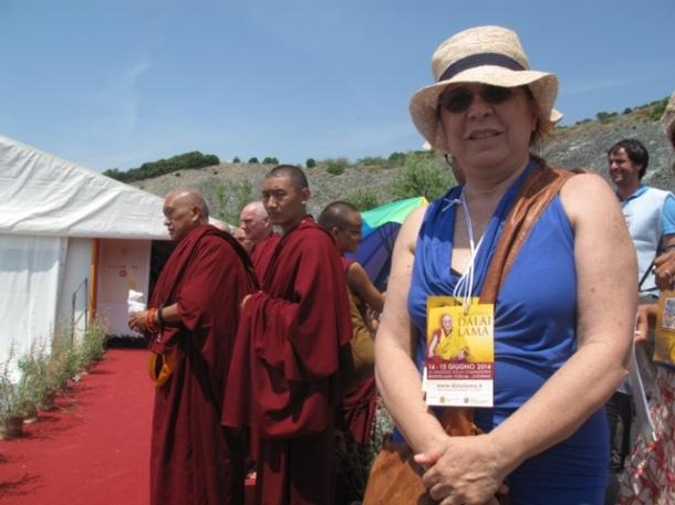 Syusy all'incontro con il Dalai Lama