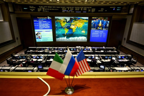 Tsup (Roskossmos Mission Control) yesterday night during countdown to Samantha Cristoforetti's launch to Space