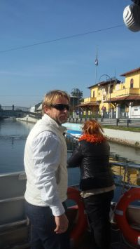 Navigando sul Naviglio Grande