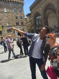 Syusy e Livio a Palazzo Vecchio In viaggio con la zia a Firenze