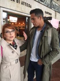 Syusy e Livio alla stazione In viaggio con la zia a Firenze