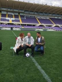 Syusy e Livio allo stadio di Firenze In viaggio con la zia a Firenze