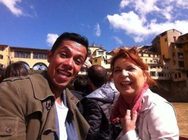 Syusy e Livio sull'Arno In viaggio con la zia a Firenze