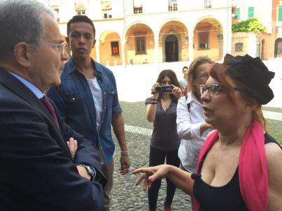 Con Romano Prodi in Piazza Santo Stefano