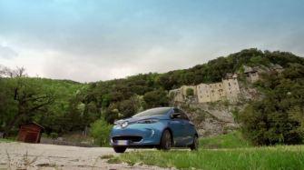 Con Renault Zoe al Santuario di Greccio